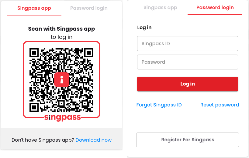 Picture showing CorpPass login inputs